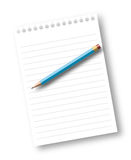 notatnika papieru ołówka prześcieradło Obraz Stock