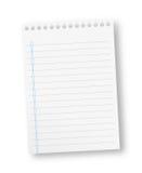 Notatnika papieru prześcieradło Obraz Stock