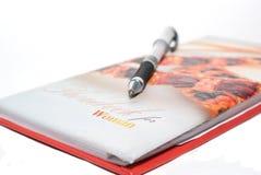 notatnika pióra kobiety Zdjęcie Royalty Free