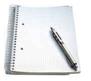 notatnika pióro Zdjęcie Royalty Free