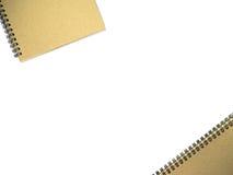 Notatniki na białym tle z przestrzenią Zdjęcie Stock
