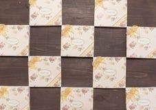 Notatniki z dziękują was wiadomość jest na drewnianym tle Obraz Stock