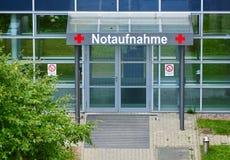 Notaufnahme - emergency entrance. Of Unimedizin Greifswald Royalty Free Stock Image