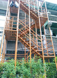 Notausgangtreppenhaus Stockfoto