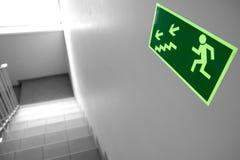 Notausstieg u. Treppenhaus im wokplace lizenzfreie stockfotografie