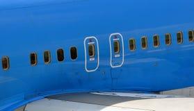 Notausstiege über den Flügeln Lizenzfreies Stockbild