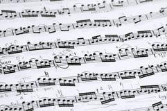 Notazione di musica fotografia stock