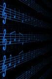 Notazione musicale Fotografie Stock Libere da Diritti