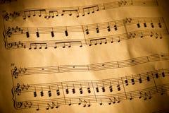 Notazione musicale Fotografie Stock