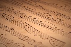 Notazione musicale scritta a mano Immagine Stock