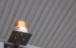 Notbeleuchtung auf Gabelstapler Stockbild
