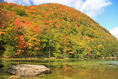 Notch Lake in Fall. Catskill Mountain State Park, New York Stock Photography