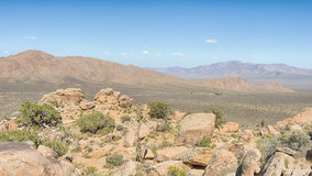 The Notch, Teutonia Peak Trail, Mojave National Preserve, CA Royalty Free Stock Photo