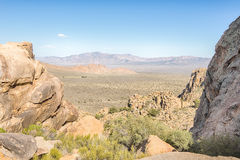 The Notch, Teutonia Peak Trail, Mojave National Preserve, CA. View from the Notch on Teutonia Peak Trail, in the Mojave National Preserve, California Stock Photography