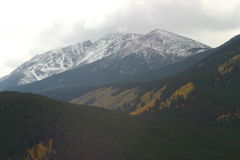 Notched Mountain. Notch Mountain on I-40 from Vail, CO to Leadville, CO Stock Photos