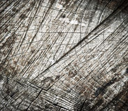 Notches on sectional wooden board Stock Image