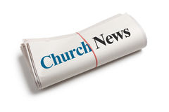 Notícia da igreja Foto de Stock Royalty Free