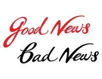 Notícia ruim de boa notícia Fotografia de Stock Royalty Free