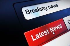 Notícias de última hora Imagens de Stock