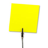 Note. Sticky note on white with clipping path Stock Photo