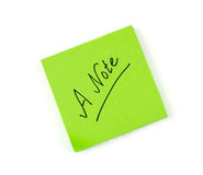 A note Stock Images