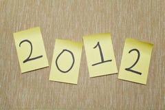 note 2012 Photos libres de droits
