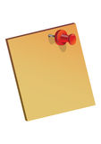 Note. Yellow note in white background Royalty Free Stock Image