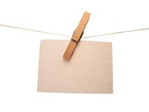 Note. Clothespin note Royalty Free Stock Photos