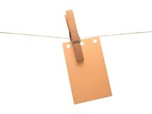Note. Clothespin note Royalty Free Stock Photography