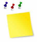 Note. The yellow leaf for notes Royalty Free Stock Photo
