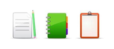 Note address book icon set Royalty Free Stock Image