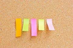 Note appiccicose di ricordo di rettangolo. Immagine Stock