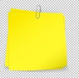 Note appiccicose variopinte allegate con la graffetta metallica illustrazione vettoriale