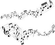 Note astratte di musica Immagini Stock