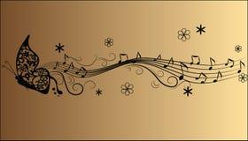 Note astratte di musica di melodia Immagini Stock