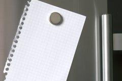 Note au réfrigérateur Images libres de droits