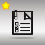 Note black Icon button logo symbol Stock Photos