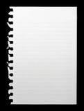Note blanc Photos libres de droits