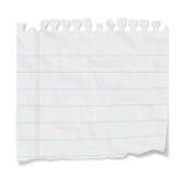 Note blanc - papier rayé Image stock