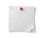 Note blanche Photographie stock libre de droits