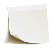 Note blanche de bâton   Photos libres de droits