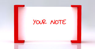Note board Royalty Free Stock Images