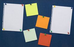 Note board. With memo papers isolated stock images