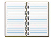 Note book 02. A blank notebook note paper royalty free illustration