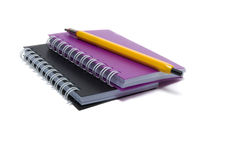 Note-book. And pen for work in office Royalty Free Stock Photos