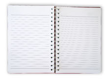 Note Book. Blank Note Book For write anythings in it Royalty Free Stock Photography