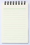 Note book. White note book isolated background Stock Photo