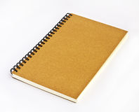 Note book. Blank note book on white background Royalty Free Stock Images