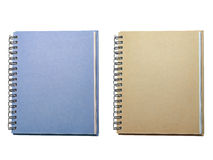 Note book. Two note book on isolated Stock Photography