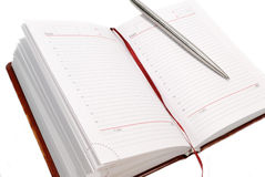 Note book. On white background Royalty Free Stock Images